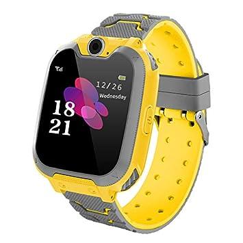 Reloj Inteligente para Juegos Infantiles con MP3 Player - [1GB Micro SD Incluido] Llamada de Pantalla táctil de 2 vías Juego de Alarma cámara Reloj ...