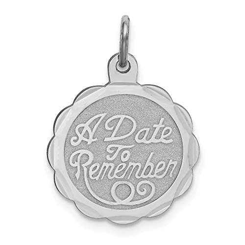 925 Sterling Silver A Date To Remember Disc Pendant Charm Necklace Special Day Fine Jewelry Gifts For Women For -