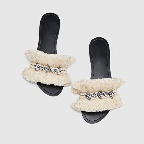 estate sandali YMFIE staminifera nuovo 38 trapano infiorescenza antislittamento di toed tipo ed acqua In ladies il 37 primavera pantofola wtgraqt
