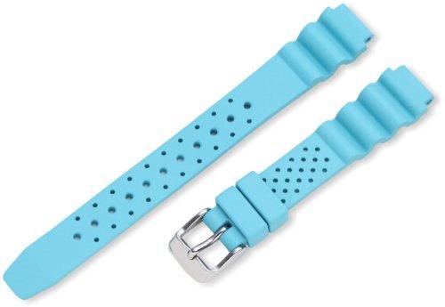 (New St. Moritz Momentum Women's 14mm Aqua Hyper Natural Rubber Watch Band for St. Moritz M1 Dive Watch)