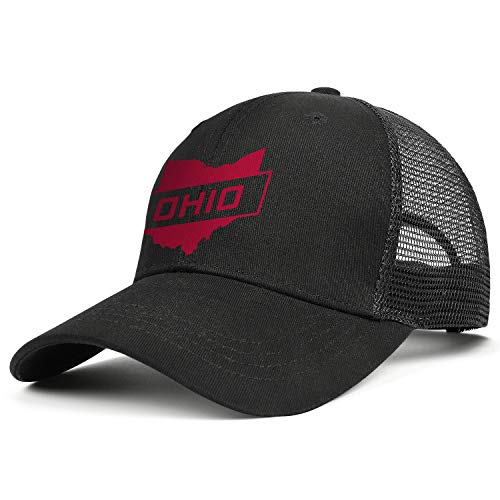 Hat Classic Ohio - Unisex Classic Mesh Trucker Cap-Ohio Retro Vintage State Travel Style Low Profile Travel Sunscreen Hat Outdoors