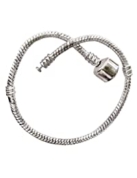 Pandora compatible bracelet for all pandora charms & beads - beautifully silver plated