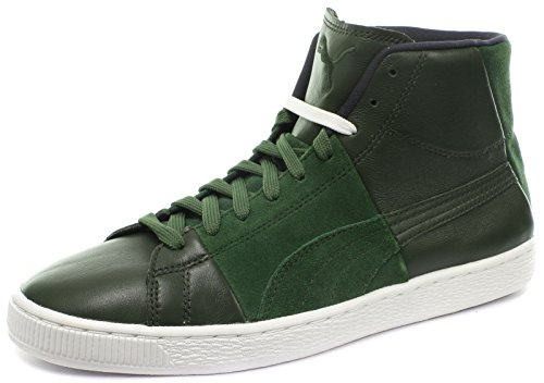 Puma Suede Mid X Curiosity Unisex Baskets / Sneakers Forest Night-chive