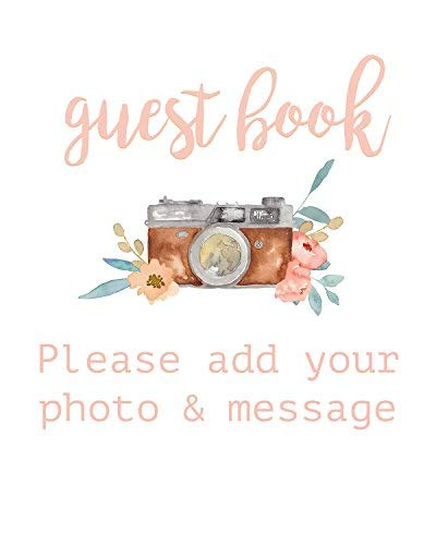 Polaroid Wedding Guest Book.Amazon Com Modern Notebooks Guest Book Sign For Wedding Guest Book
