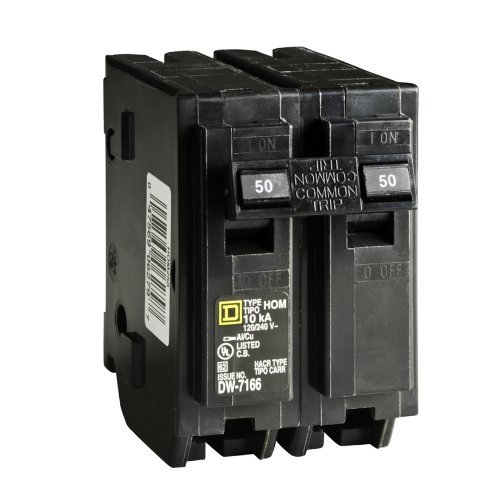 Your One Source HOM250CP 50-Amp 2-Pole Plug-On Circuit Breaker by Homeline (2 Pole Breaker 50a)