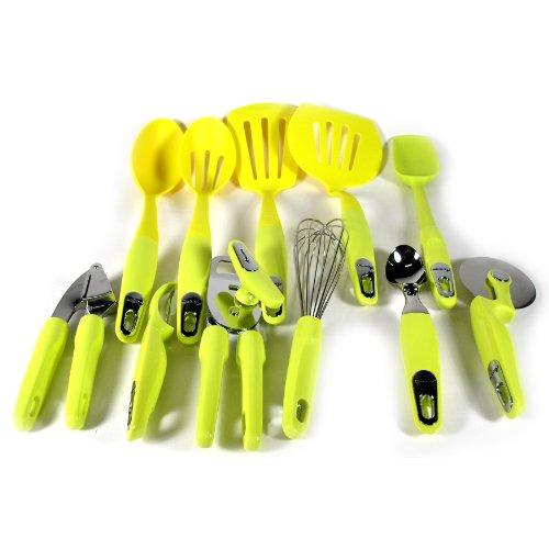 Take Amana ATKOO4BK 11-Piece Kitchen Utensil and Gadget Set, Lime dispense