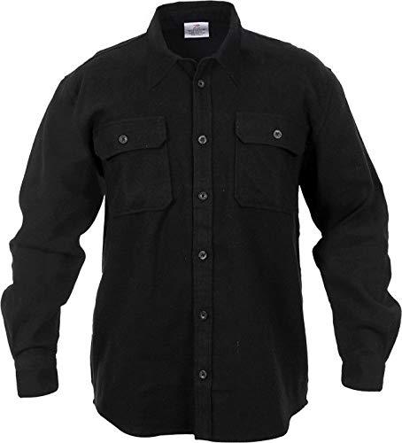 AccessoriesClothing New Heavyweight Plaid Flannel Shirt Brawny Buffalo Long Sleeve Checkered Lumberjack