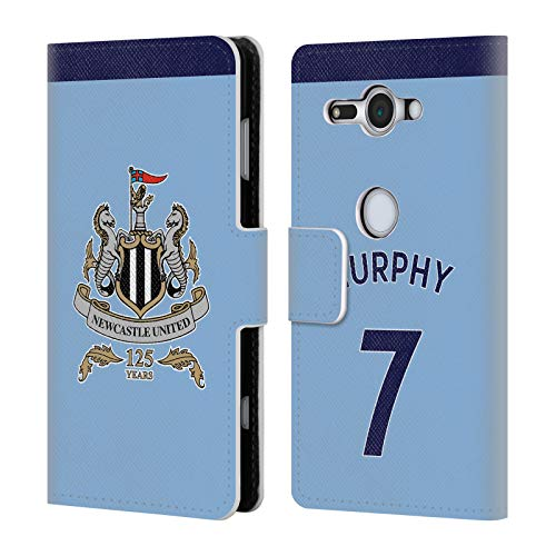 Compact Wallet Murphy (Official Newcastle United FC NUFC Jacob Murphy 2017/18 Players Away Kit Group 1 Leather Book Wallet Case Cover for Sony Xperia XZ2 Compact)