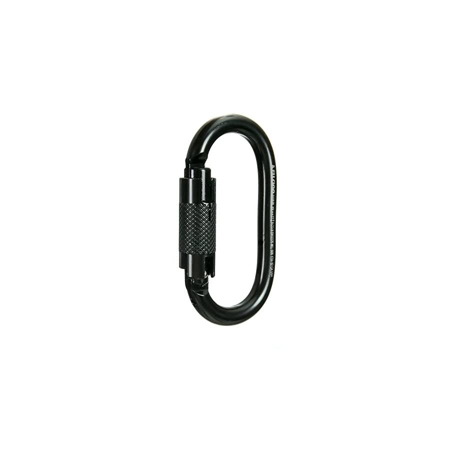 Fusion Climb Ovatti Military Tactical Edition Steel Auto Lock Oval Shaped Carabiner Black