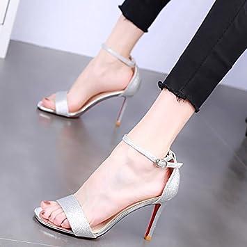 Keilabsatz, Sandalen, Sommer Ausflüge, Schnalle, Fisch Mund, Neigung Ferse, high-heeled Shoes, Sandals, Pink, 41