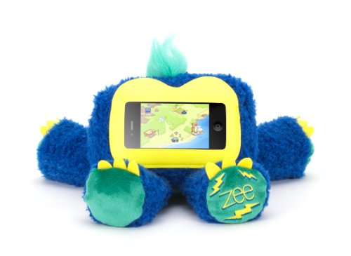 Lovable Plush Bear - Griffin Blue Woogie Zee Plush Kid Case for iPhone and iPod touch - Half case, half teddy bear, all fun.