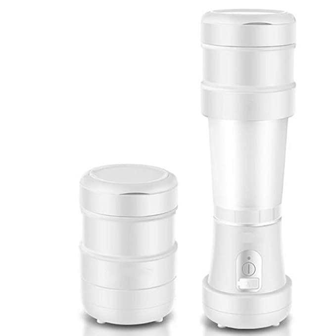 BNMYSY SYANG Folding Telescopic Juicer Mini Wireless Electric Juice Cup Portable Small Student Juice Machine,White