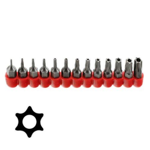 Pro-Grade 13pc Tamper Proof Torx Star Bit Set T-4 To T-40 - Taiwan by Pro Tools