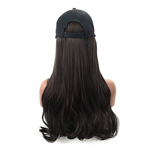 TIFENNY Long curlsWig Cap Long Hair Baseball