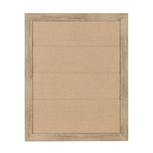 DesignOvation Beatrice Framed Burlap Pockets Wall Organizer, 23x29, Rustic Brown