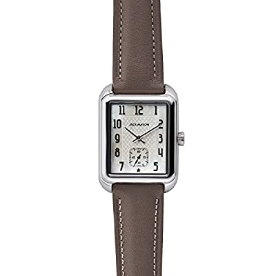 Jack Mason Issue No 2 Stainless Steel Sub Second Mother of Pearl Dial Taupe Leather Strap from Jack Mason