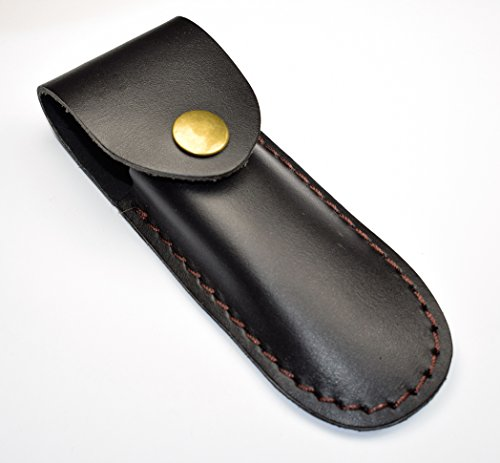 Black Leather Corkscrew Holster Waiters/Server Belt Sheath Case Holder