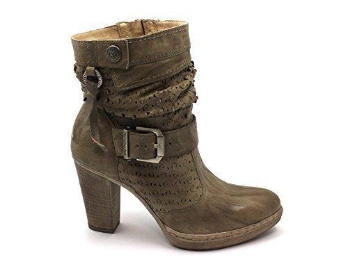 Chaussures Bottines Beige 05007 Femme Boucle Beige Black Zip Jardins Giardini Nero xpwIqHO
