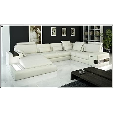 6104 Modern Bonded Leather Sectional Sofa