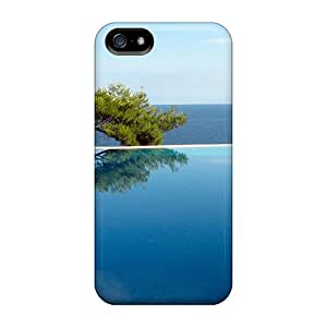 Awesome Tree By The Pool Flip Cases With Fashion Design For Iphone 5/5s