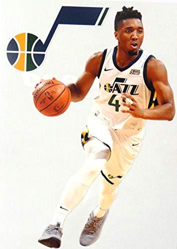 (FATHEAD Donovan Mitchell Mini Graphic + Utah Jazz Logo Official NBA Vinyl Wall Graphics - This Graphic is 7