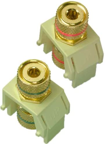 On-Q WP3457LAV5 Audio Binding Posts 5 pack Light Almond Legrand