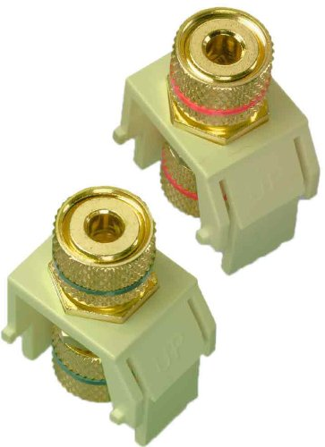 Legrand - On-Q WP3457LAV5 Audio Binding Posts (5 pack), Light Almond