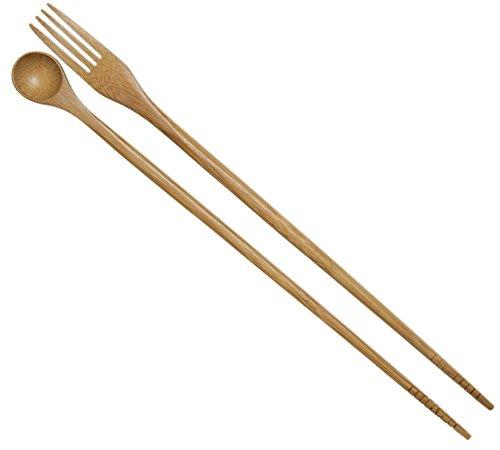 Joyce Chen 30-0042, Taste N Cook Burnished Bamboo Chopsticks, 13-Inch, 1-Pair