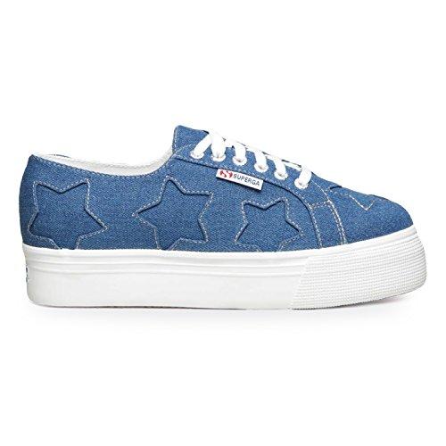 2790 Lacets à pour de Chaussures Bleu Femme SUPERGA 915 Bleu Ville H1ApAx