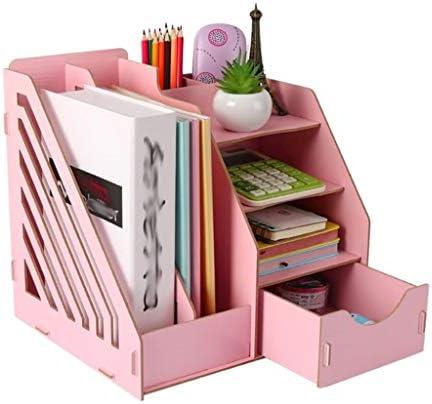 XLEVE 本棚、オフィス用品、デスクトップストレージボックスデスククリエイティブ本棚棚、タフテクスチャと企業構造