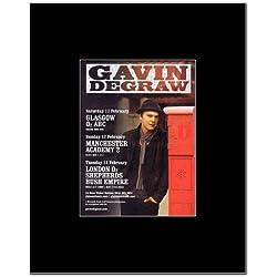 GAVIN DEGRAW - UK Tour 2012 Mini Poster - 13.5x10cm