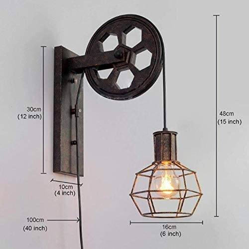 Wall lamp Personality Simple Retro Industrial Style Living Room Dining Room Bedroom Bedside Wall lamp