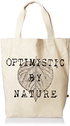 Life is good Women's Messaging Engraved Leaf Tote (Natural), One ()