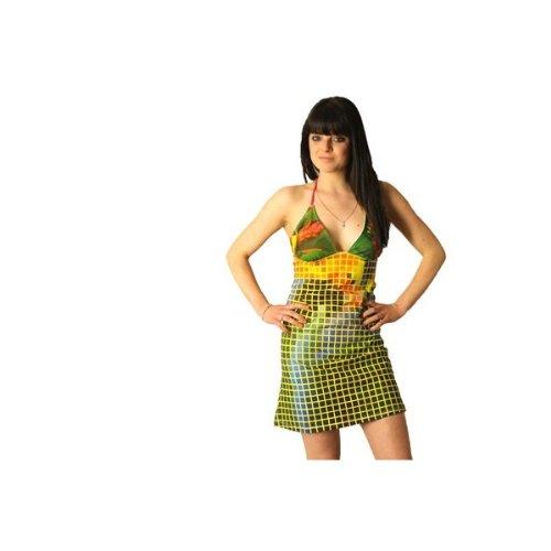 d5079cb97bfa2 PARDON!-vestido con corpiño corto descubierta de espalda talla PARDON XS