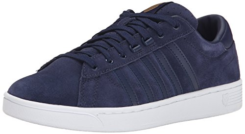 K-Swiss Women's Hoke Suede CMF Casual Shoe, Navy/White, 9 M US