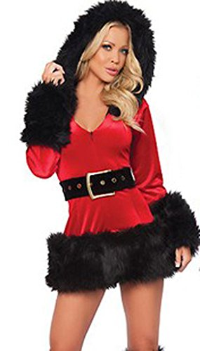 Eyekepper Ladies Sexy Miss Mrs Santa Christmas Fancy Dress Costume Outfit (Mrs Christmas Outfit)