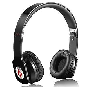Noontec Zoro Adjustable On Ear Stereo Hi-Fi Earphone Headphone for PC MP3 MP4 iPod iPhone iPad Tablet Cellphone Mobile Phone - Black