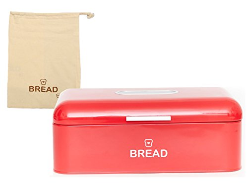Vintage Bread Box For Kitchen Stainless Steel Metal 16.5