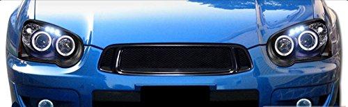 R&L Racing Front Grill Compatible with Subaru Impreza WRX STI 04-05 | Black Aluminum Mesh Hood Bumper Grille