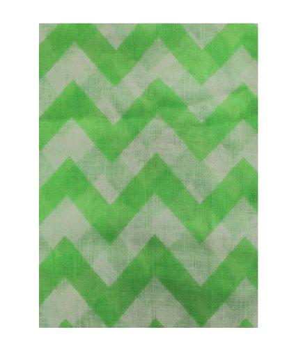 Women's Chevron Zig Zag Infinity Scarf (Green & White)