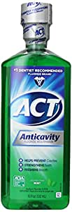 ACT Anticavity Fluoride Mouthwash, Mint, Alcohol Free, 18-Ounce Bottle (Pack of 6)