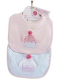 Baby Cakes 2 Piece Bib Gift Set, Pink