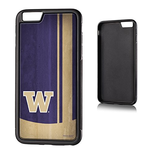 Washington Huskies iPhone 6 Plus & iPhone 6s Bumper Case officially licensed by the University of Washington for the Apple iPhone 6 Plus by keyscaper® Flexible Full Coverage Low (Huskies Cell Phone Case)