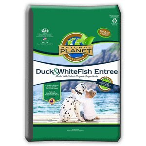 Natural Planet Organics Duck and WhiteFish Entree Dry Dog Food 25 lb, My Pet Supplies