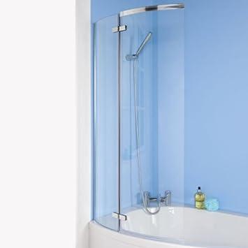 Hudson Reed ERCS0-C Mampara de baño, cristal para bañera o ducha ...