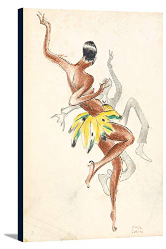 - Tumulte Noire - Josephine Baker Vintage Poster (artist: Colin) France c. 1929 (24x36 Gallery Wrapped Stretched Canvas)