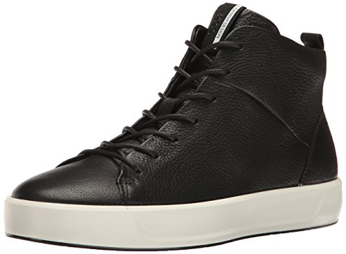 ECCO Women's Soft 8 High-Top Fashion Sneaker, Black, 38 EU/7-7.5 M US