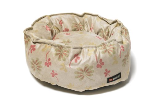 - Big Shrimpy Catalina Faux Suede Bed for Cats and Small Dogs, Tan Clover