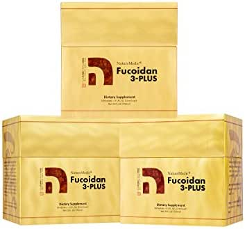 NatureMedic Fucoidan 3Plus Brown Seaweed Immunity Supplement with Organic 50 Liquid Packets/Box Made in Japan (3)