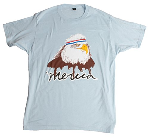 USA Mullet Eagle | Patriotic 80's Eagle of Freedom - Merica Unisex T-shirt-Adult,L (Freedom Eagle T-shirt)